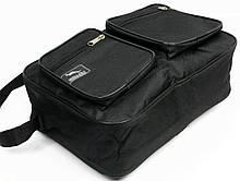 Вместительная мужская сумка черного цвета (2621)
