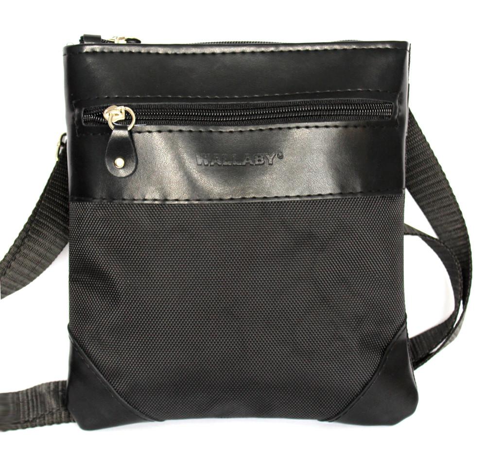 Мужская сумка удобная стильная черная (264)