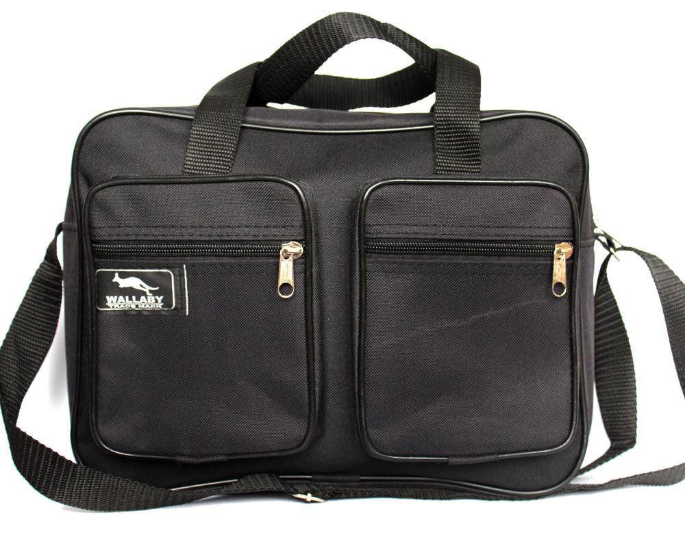Мужская сумка вместительная 2 в 1 черная (2610)