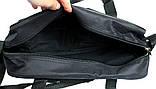 Мужская сумка вместительная 2 в 1 черная (2610), фото 4
