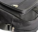 Мужская сумка вместительная 2 в 1 черная (2610), фото 7