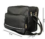 Мужская большая сумка под формат А-4 черная (2641), фото 2