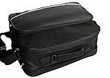 Мужская большая сумка под формат А-4 черная (2641), фото 4