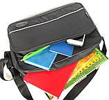 Мужская большая сумка под формат А-4 черная (2641), фото 5