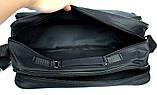 Мужская большая сумка под формат А-4 черная (2641), фото 6