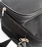 Мужская большая сумка под формат А-4 черная (2641), фото 7