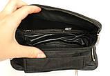 Мужская маленькая сумка 3в1 черного цвета 2663-ч, фото 4