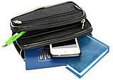 Мужская маленькая сумка 3в1 черного цвета 2663-ч, фото 5