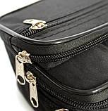 Мужская маленькая сумка 3в1 черного цвета 2663-ч, фото 6
