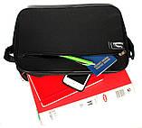 Мужская повседневная вместительная сумка под формат А-4 (W-2600), фото 5