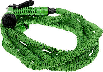 Шланг для полива X HOSE 15 м + распылитель (зеленый)