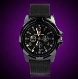 Мужские часы черные с тканевым ремешком (ч-10), фото 2