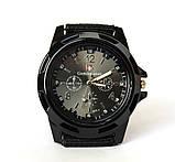 Мужские часы черные с тканевым ремешком (ч-10), фото 3