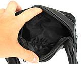 Мужская сумка - бананка для мужчин черная (2002ч), фото 5