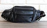 Мужская сумка - бананка для мужчин черная (2002ч), фото 7