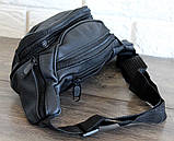 Мужская сумка - бананка для мужчин черная (2002ч), фото 8