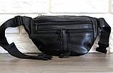 Мужская сумка - бананка из натуральной кожи (903ч), фото 8