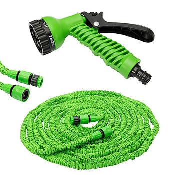 Шланг для полива X HOSE 60 м с распылителем (быстросъемное крепление) Green