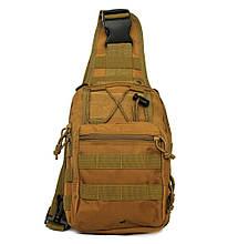 Эргономический однолямочный рюкзак - сумка водоотталкивающий (50413)