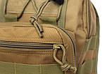 Эргономический однолямочный рюкзак - сумка водоотталкивающий (50413), фото 3