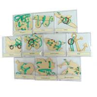 Набор 10 веревочных головоломок «Крутиголовка»