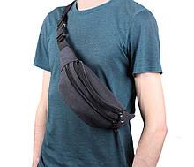 Поясная сумка - бананка через плечо тканевая (15001-5ч)