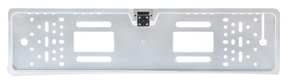 Камера заднего вида в рамке номерного знака A58 4 Led серебряный (13211)