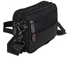 Барсетка мужская сумочка натуральная кожа 2в1 (9947-11ч)