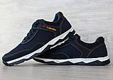 43 р. !!! Кросівки чоловічі літні сітка синього кольору (Кл-23сбк), фото 3