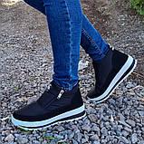Женские ботинки утепленные на меху кроссовки (БТ-5б-2), фото 3