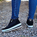 Женские ботинки утепленные на меху кроссовки (БТ-5б-2), фото 6