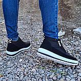 Женские ботинки утепленные на меху кроссовки (БТ-5б-2), фото 8