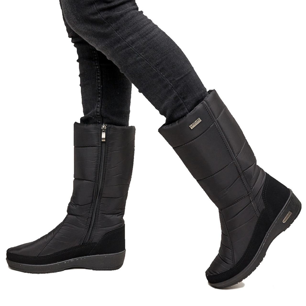 Жіночі зимові чоботи теплі і зручні (ПР-2002чн)