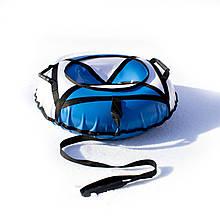 Тюбинг надувные санкиватрушка d 100 см серия Стандарт Бело - Голубого цвета для детей и взрослых