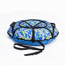 Тюбинг надувные санки ватрушка d 100 см серия Стандарт Камуфляжного цвета для детей и взрослых