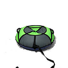 Тюбинг надувные санкиватрушка d120 см серия Стандарт Неоново - Серый для детей и взрослых