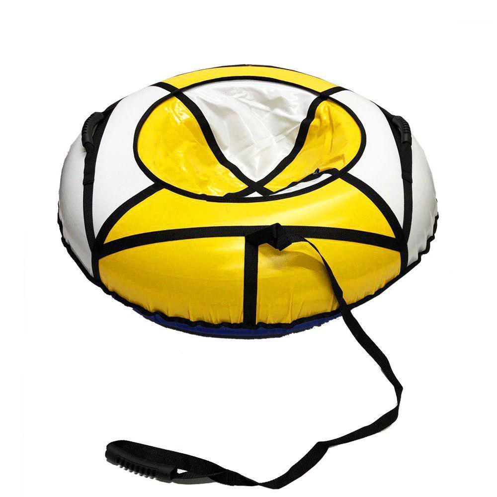 Тюбінг надувні санки ватрушка d 120 см серія Стандарт Біло - Жовтого кольору для дітей і дорослих