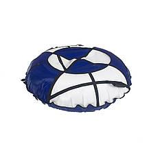 Тюбинг надувные санкиватрушка d120 см серия Стандарт White - Blue для детей и взрослых