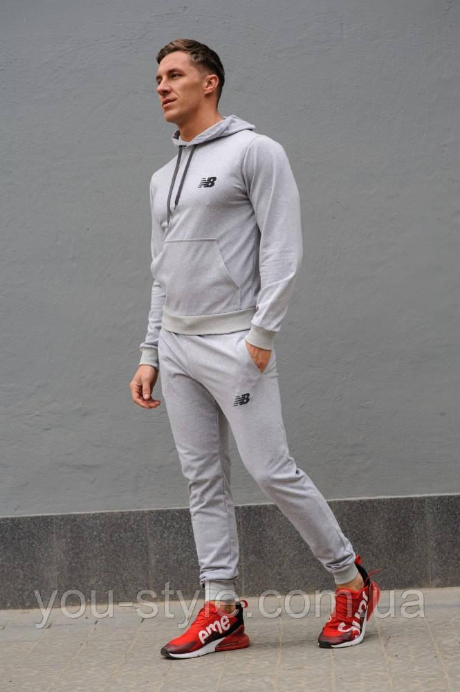 Cерый мужской спортивный костюм New Balance (Нью Беленс), весна-осень (реплика)
