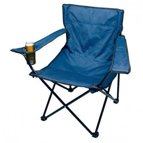 Кресло раскладное STENSON Паук с подстаканником Синее