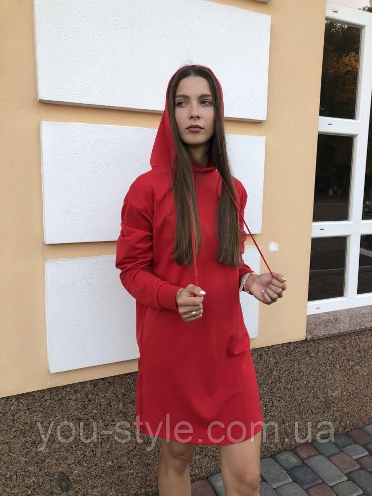 Женское платье худи красное DNK MAFIA - Elven
