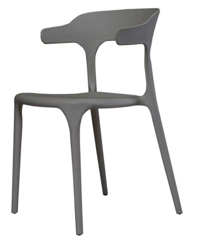 Стул Lucky серый графит (111877) пластик Concepto