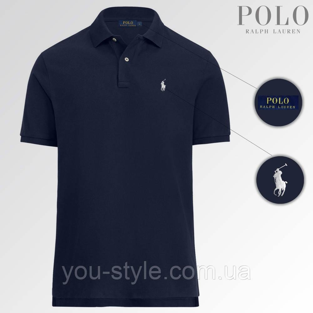 Футболка Поло Polo Ralph Lauren (Темно-синяя)