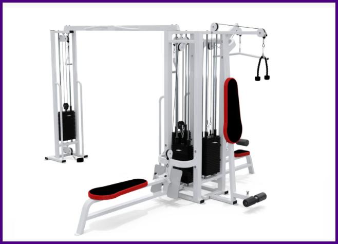 """Станція тренажер 4-х позиційна для м'язів спини, грудей, біцепсів, трицепсів """"""""ГАРАНТІЯ"""