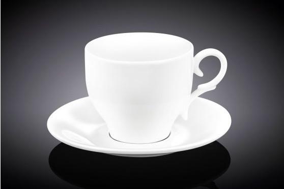 Чашка чайная из фарфора с блюдцем Wilmax 330 мл WL-993105