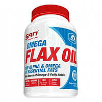 SAN Nutrition, Омега Omega Flax Oil 3-6-9, 100 капсул