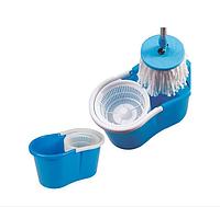 Швабра-лентяйка с турбо отжимом и ведром для быстрой уборки Spin MOP Cleaner 360 с микрофиброй