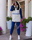 Повседневный прогулочный костюм-тройка с жилетом из лаковой плащевки,4 цвета Р-р.44-46,48-50,52-54,, Код 1091В, фото 7