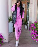 Повседневный прогулочный костюм-тройка с жилетом из лаковой плащевки,4 цвета Р-р.44-46,48-50,52-54,, Код 1091В, фото 8