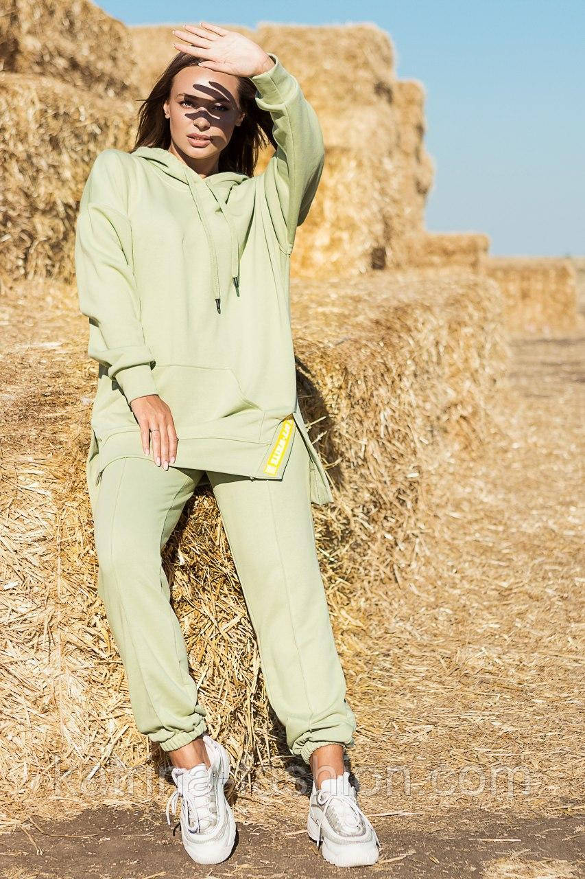 Жіночий стильний спортивний костюм з капюшоном: худі і штани (в кольорах)